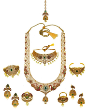 Buy Bridal Jewellery online and dulhan set by Anuradha Art Jewellery.