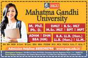Mahatma Gandhi University - Admission Open